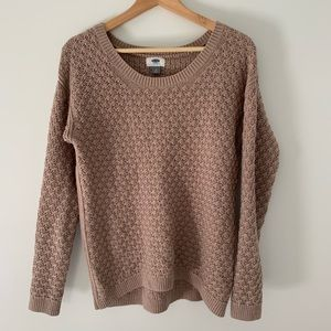 Old Navy Open Knit Lavender Sweater